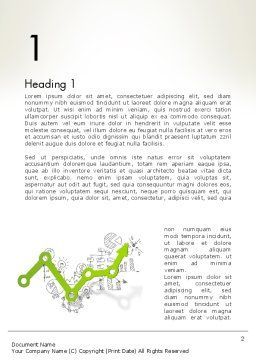 Data Analysis Concept Word Template, First Inner Page, 12731, Business Concepts — PoweredTemplate.com