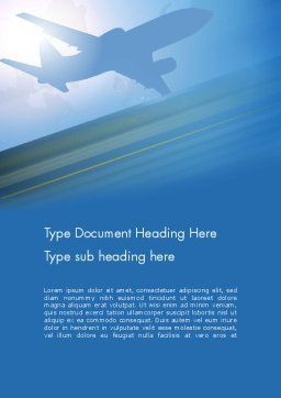 Airport Transfer Word Template Cover Page