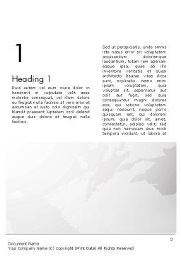 Strict Business Theme with World Map Word Template First Inner Page