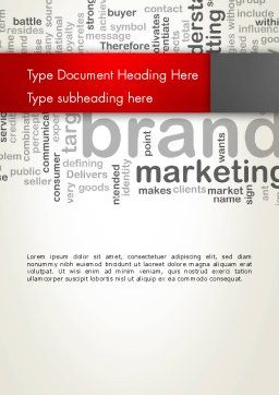 Brand Marketing Word Cloud Word Template, Cover Page, 12740, Careers/Industry — PoweredTemplate.com