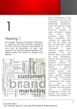 Brand Marketing Word Cloud Word Template, First Inner Page, 12740, Careers/Industry — PoweredTemplate.com