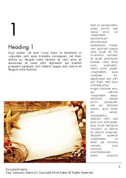 Ocean Shells Theme Word Template, First Inner Page, 12742, Holiday/Special Occasion — PoweredTemplate.com