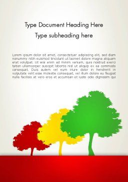 Three Trees Word Template Cover Page