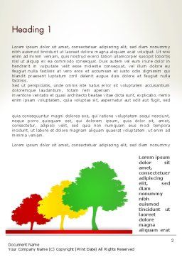 Three Trees Word Template First Inner Page