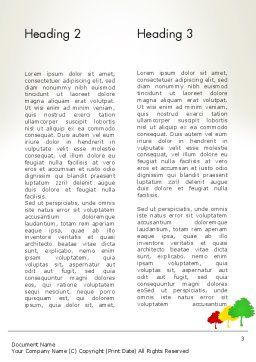 Three Trees Word Template Second Inner Page
