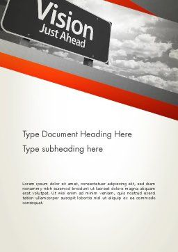 Vision Just Ahead Sign Word Template, Cover Page, 12752, Business Concepts — PoweredTemplate.com
