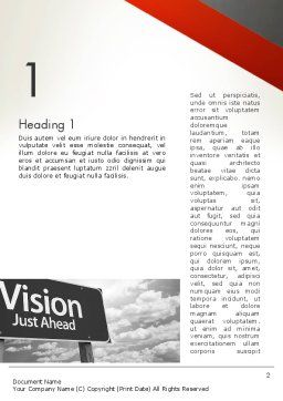 Vision Just Ahead Sign Word Template, First Inner Page, 12752, Business Concepts — PoweredTemplate.com