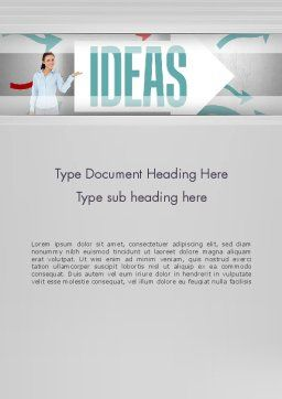 Ideas Presentation Word Template, Cover Page, 12756, Business Concepts — PoweredTemplate.com