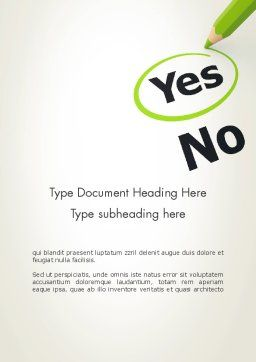 Say Yes Word Template Cover Page