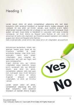 Say Yes Word Template First Inner Page