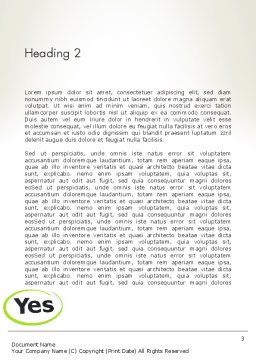 Say Yes Word Template Second Inner Page