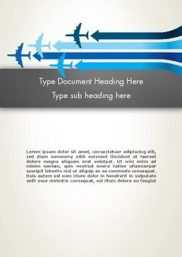 Aerial Transport Word Template, Cover Page, 12759, Cars/Transportation — PoweredTemplate.com