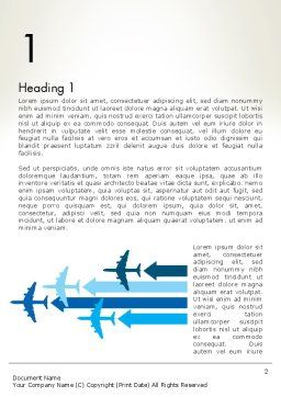 Aerial Transport Word Template, First Inner Page, 12759, Cars/Transportation — PoweredTemplate.com
