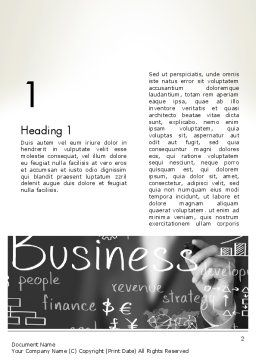 Business Project Concept Word Template, First Inner Page, 12765, Business — PoweredTemplate.com