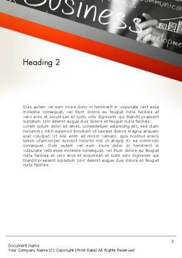 Business Project Concept Word Template, Second Inner Page, 12765, Business — PoweredTemplate.com