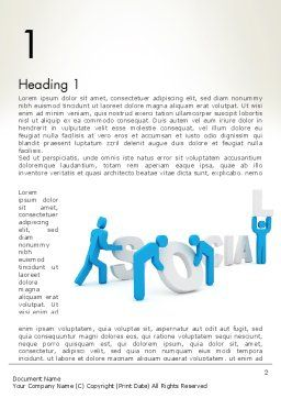 Building Social Business Word Template, First Inner Page, 12767, Business Concepts — PoweredTemplate.com