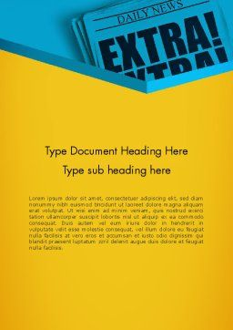 Extra Extra Word Template, Cover Page, 12769, Careers/Industry — PoweredTemplate.com