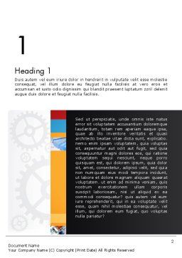 Gears Theme Word Template, First Inner Page, 12775, Business — PoweredTemplate.com