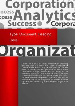 Corporation Analytics Word Template, Cover Page, 12776, Consulting — PoweredTemplate.com