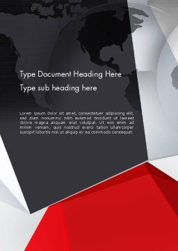 Globe with Geometric Layers Word Template Cover Page