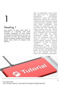 Tutorial Button Word Template, First Inner Page, 12779, Consulting — PoweredTemplate.com