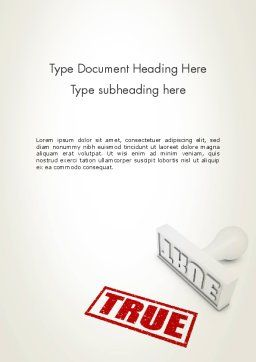True Rubber Stamp Word Template, Cover Page, 12780, Business Concepts — PoweredTemplate.com