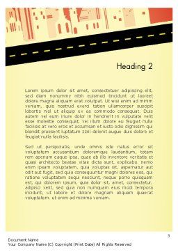 City Road Side View Word Template, Second Inner Page, 12782, Construction — PoweredTemplate.com