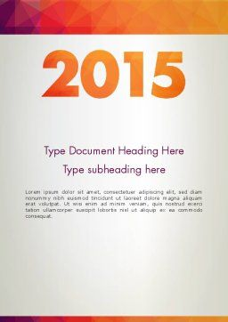 2015 in Modern Flat Style Word Template, Cover Page, 12784, Holiday/Special Occasion — PoweredTemplate.com