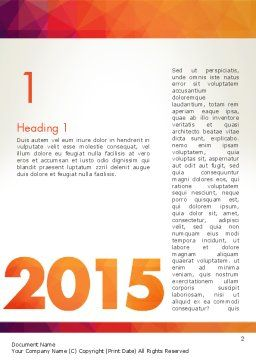 2015 in Modern Flat Style Word Template, First Inner Page, 12784, Holiday/Special Occasion — PoweredTemplate.com