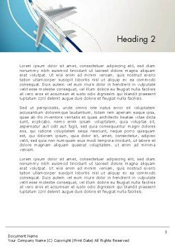 Airplane Theme Word Template, Second Inner Page, 12788, Cars/Transportation — PoweredTemplate.com