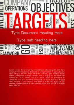 Objectives and Targets Word Cloud Word Template, Cover Page, 12792, Business Concepts — PoweredTemplate.com