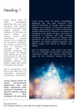 Snowflakes Christmas Tree Word Template, First Inner Page, 12796, Holiday/Special Occasion — PoweredTemplate.com