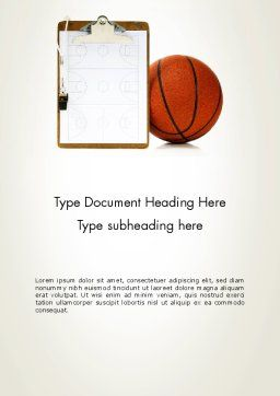 Basketball Coach Word Template, Cover Page, 12801, Sports — PoweredTemplate.com