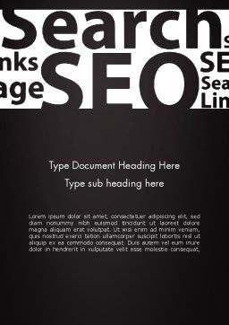 SEO Word Cloud Word Template, Cover Page, 12802, Careers/Industry — PoweredTemplate.com