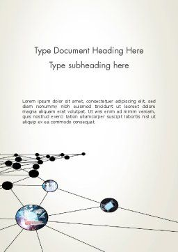 Network Nodes Word Template, Cover Page, 12803, Business — PoweredTemplate.com
