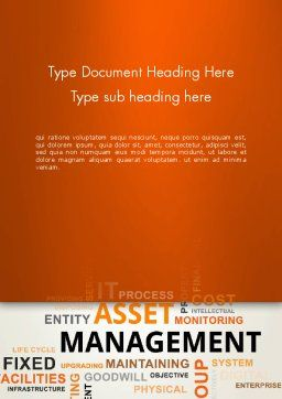 Asset Management Word Cloud Word Template, Cover Page, 12810, Careers/Industry — PoweredTemplate.com
