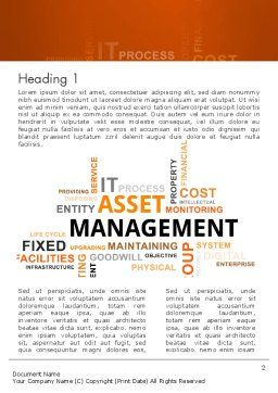 Asset Management Word Cloud Word Template, First Inner Page, 12810, Careers/Industry — PoweredTemplate.com