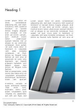 Silver Planks Word Template, First Inner Page, 12816, Business — PoweredTemplate.com