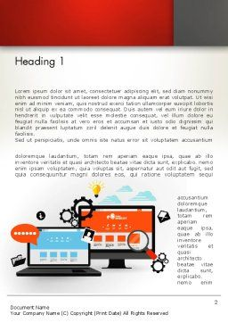 Web Design and Site Development Word Template, First Inner Page, 12818, Careers/Industry — PoweredTemplate.com