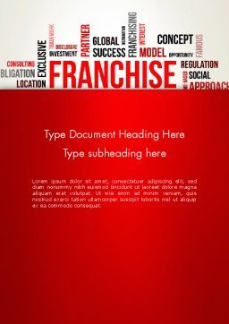Franchise Word Cloud Word Template, Cover Page, 12820, Business Concepts — PoweredTemplate.com