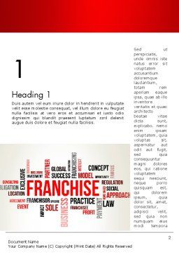 Franchise Word Cloud Word Template, First Inner Page, 12820, Business Concepts — PoweredTemplate.com