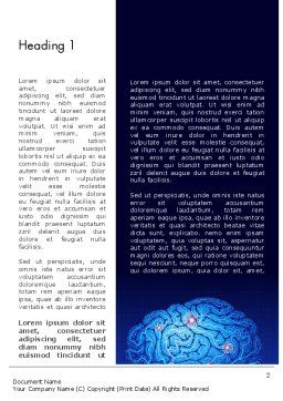 Brain Map Word Template, First Inner Page, 12823, Medical — PoweredTemplate.com