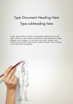 Idea Implementation Word Template, Cover Page, 12827, Business Concepts — PoweredTemplate.com