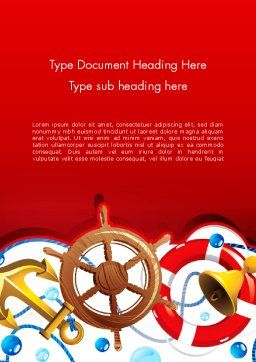 Nautical Word Template Cover Page