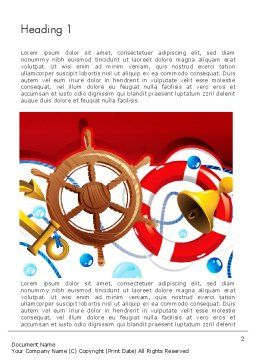Nautical Word Template First Inner Page