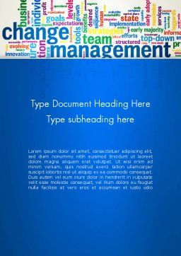 Management Word Cloud Word Template Cover Page