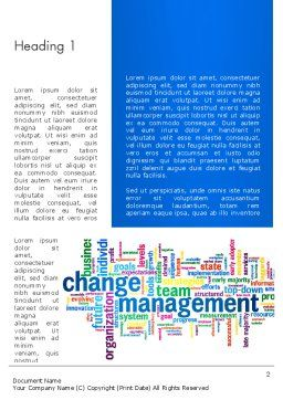 Management Word Cloud Word Template First Inner Page