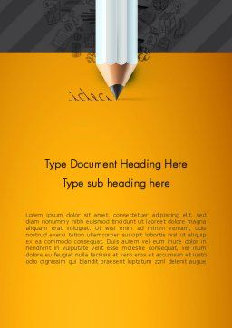 Ideas Come From Writing Word Template, Cover Page, 12835, Business Concepts — PoweredTemplate.com