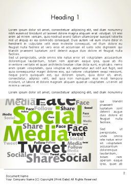 Social Media Wordcloud Concept Word Template, First Inner Page, 12837, Careers/Industry — PoweredTemplate.com