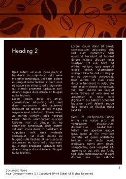 Coffee Beans Background Word Template Second Inner Page